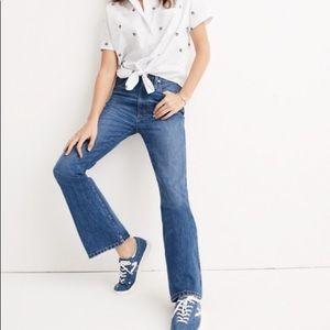 Madewell Rigid Flare Jeans